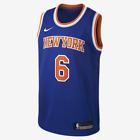 NIKE YOUTH KRISTAPS PORZIŅĢIS NEW YORK KNICKS ICON EDITION SWINGMAN JERSEY NEW on eBay