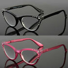 Cat Eye Reading Eye Glasses Readers Women Classy Elegant Retro Bling Black Frame