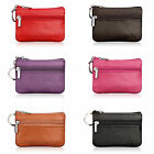 Women Ladies Leather Mini Key Chain Wallet Credit Card Clutch Change Coin Purse image