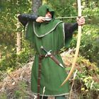 Medieval Huntingdon Green Over Tunic with Hood