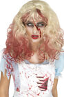 Womens Fancy Halloween Dress Party Zombie Bloody Alice Wig Blonde