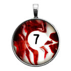 Number Seven #7 Pool Ball Key Ring Necklace Cufflinks Tie Clip Ring Earrings $16.95 USD on eBay