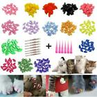 Cat Nail Caps Claw Medium Size Soft 100PCS And 5Pcs Adhesive Glue for CATS PAWS.
