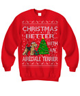 Airedale Terrier Christmas Ugly Sweater, Airedale Terrier Christmas Sweater Gift
