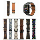 Luxury Brand Design iWatch Leather Sport Strap 38/40/44mm for Apple Watch Band image