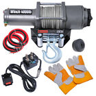 4000-12000lbs Electric Recovery Boat Car Winch UTV ATV Towing Truck Trailer Rope