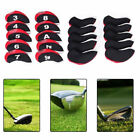 10Pcs Neoprene Golf Club Protective Head Covers Headcovers  Protect Accessories