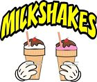 Milkshakes DECAL Choose Your Size and Color  Concession Food Truck Sticker M