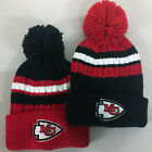 Kansas City Chiefs Pom Pom Beanie Skull Cap Hat Embroidered KC $10.75 USD on eBay