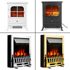 Electric Fireplace LED Fire Flame Effect Heater Stove Living Room Freestanding