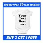 Personalised Baby Grow Vest Bodysuit Baby Shower Present Boy Christmas Girl Gift