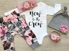 FixedPriceus 3pcs infant baby girl long sleeve top romper pants leggings outfits clothes
