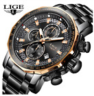 LIGE 2020 New Mens Watches Top Brand Luxury Sports Quartz All Steel Male watch