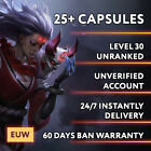 League of Legends Account EUW LOL Smurf 30.000 - 70.000 BE IP Unranked Level 30
