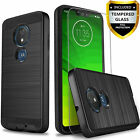 T-Mobile Revvlry Case, Moto G7 Play / Optimo XT1952DL Case, with [Tempered Glass