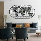 Creative World Map Wall Clocks 3D Home Decor Digital Quartz Living Room Clocks