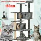 Dark Grey Large Cat Tree Climbing Tower Scratching Post Activity Centre Toy Bed