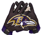 Baltimore Ravens NIKE WARP Stadium Football Gloves Fan Purple Gold M L XL XXL $34.99 USD on eBay