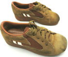 Vntage Kids Leather Shoes Size 13D Montgomery Ward Taiwan Boys Tennis Shoes