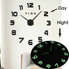 Huge Luminous Clock DIY Design 3D Modern Home Decoration Gadget Wall Hanging