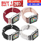 Apple Watch Series5 4 3 2 1 Bling Agate Bead Strap Bracelet Band 38/40/42/44 52C image