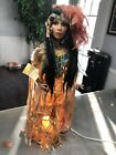 """Rare Show Stoppers, Inc. Porcelain 21"""" Native American Doll Lamp W/stand"""