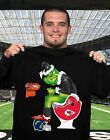 Oakland Raiders GRlNCH poop on Chiefs, Chargers and Broncos football Black Tee $19.99 USD on eBay