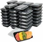 150 BLACK Take Out Microwavable Rectangular Food Lunch Container Lid