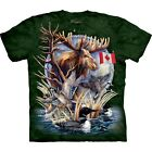 The Mountain Unisex Adult Canada Loon Collage Animal T Shirt
