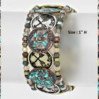 Be Brave Stretch Bangle Bracelet Arrow Tribal Eagle Wings Feather Aztec Beaded