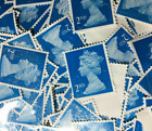 2nd Class Unfranked Blue Security Stamps Off Paper Good Cond CHEAPEST BY FAR <br/> FREE TRACKED QUICK POSTAGE