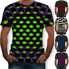 Funny Hypnosis 3D T-Shirt Men Women Colorful Print Casual Short Sleeve Tee Soft image