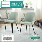 2 PC Upholstered Microfiber Armchair Tub Accent Chair Dining Modern Seat Sofa