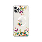 Flower Wreath Classy Girl Initials Alphabet soft case for iPhone 11 Pro X XS 8 7