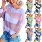 Fashion Women Loose Striped Long Sleeve Blouse Ladies Baggy Casual Shirt Top Tee