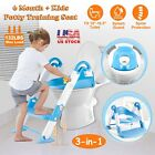 Trainer Toilet Potty Seat Chair With Ladder Step Up Kids Toddler Training Stool image