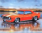 1969 Chevy Camaro Z28 Coupe Muscle Car Art Print 11x14 Poster