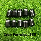 10/20/50/100pcs Tip Size .355 Custom Golf Ferrules For Taper Tip Iron and Wedge