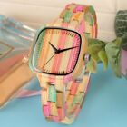Colorful Bamboo Women's Watches Nature Quartz Wood Watch Ladies Wooden Watches image