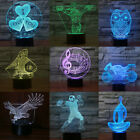 3D illusion Visual Night Light 7 Colors Change LED Desk Table Lamp Bedroom Decor