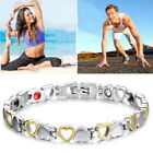 Magnetic Therapy Healing Bracelet Gold Sliver Heart Bangle Arthritis Pain Relief