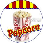 Popcorn DECAL Choose Your Size Concession Food Truck Circle Sticker