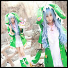 Anime DATE A LIVE Yoshino Green Uniform Women Halloween Cosplay Costume Set