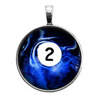 Number Two #2 Pool Ball Key Ring Necklace Cufflinks Tie Clip Round Ring Earrings $16.95 USD on eBay