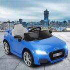 12 Volt Electric Kids Ride On Cars Audi TT License with Remote Control Toys Gift