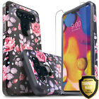 For LG V40 ThinQ Case, Dual Layer Shockproof Cover+Tempered Glass Protector