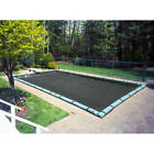 Pool Mate 10 Year Heavy-Duty Mesh Black In-Ground Winter Pool Cover, 18 x 40 ft