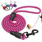 Nylon Braided Rope Dog Lead Strong 5 FT Long Dog Walking Leads for Small Large