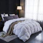 Goose Down Comforter 1000TC 700+FP Warm for All Seasons White/Grey/Pinch Pleat image