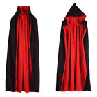 Cw_ Kids Halloween Hooded Witch Wizard Cloak Cosplay Costume Cape Gown Robe